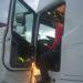 Un camión es inmovilizado por alcoholemia positiva del conductor