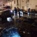 Un coche y varios contenedores arden en la calle Ferial de Tudela