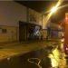 Un incendio destruye la sede de una empresa Eventos Lázaro de Corella