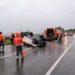Dos personas tienen que ser desatrapadas en sendos accidentes en Tudela y Lizoain