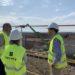 El alcalde de Tudela Alejandro Toquero visita las obras de ampliación del depósito de Montes de Cierzo