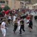 Peligroso encierro en Sangüesa: un corredor corneado por un toro